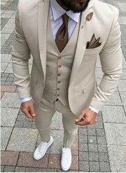 Смокинги для жениха, мужские смокинги из смесовой шерсти, Мужской Блейзер на свадьбу, выпускной ужин, куртка + брюки + галстук + жилет, A126