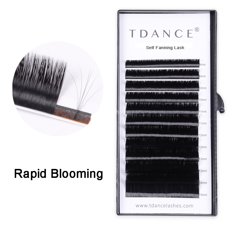 0c12f0829d9 TDANCE Rapid Blooming Volume Eyelash Extensions self fanning Fast Fan