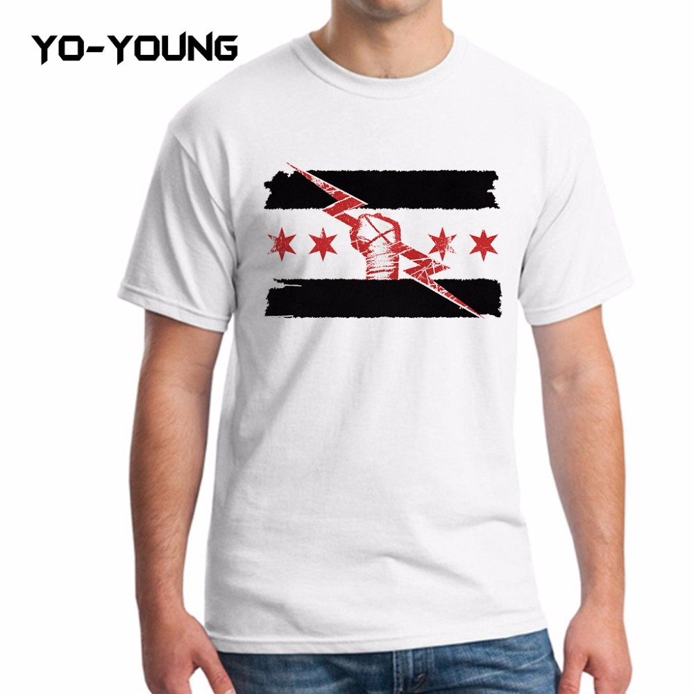 Yo Young Men Casual T Shirts Cm Punk Best In The World