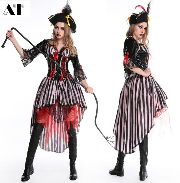 Pirate Costume Women Sexy Skirt Halloween Party Cosplay Fantasy Stage Performance Carnival Outfit