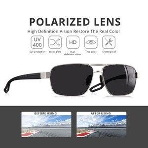 Image 2 - Aofly design masculino óculos de sol polarizados óculos de sol de metal masculino óculos de condução quadrados oculos masculino óculos goggle af8194