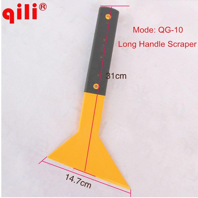 QILI QG-10 Plastic Yellow Long Handle Car Vinyl Film Scraper with High Temperature Resitant Car Window Tint Scraper