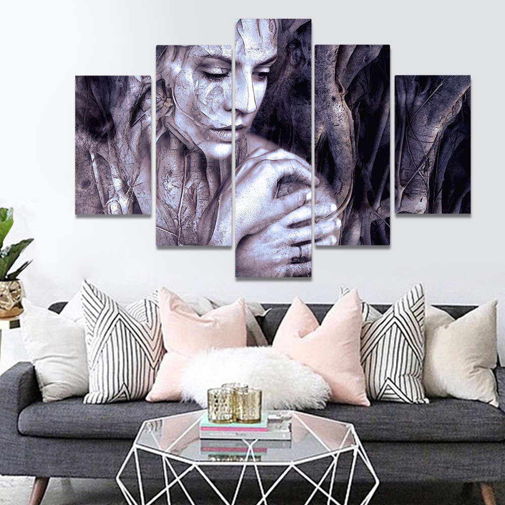 Unframed Canvas Painting Gothic Branch Shuren Crack Skin Art Picture Prints Wall Picture For Living Room Wall Art Decoration