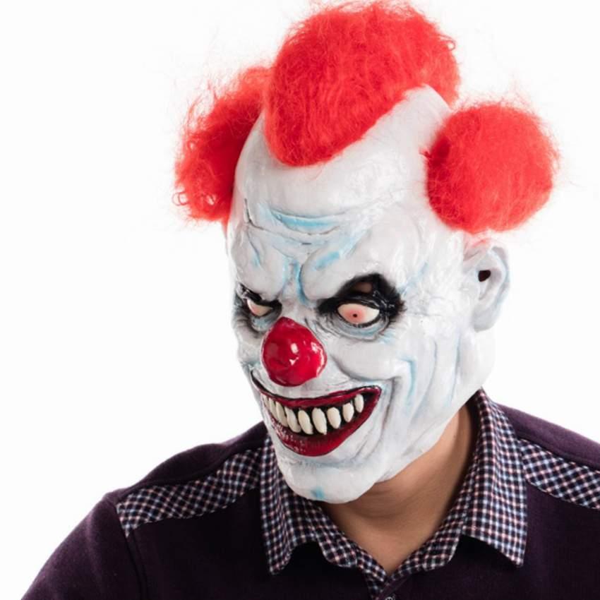 Ashanglife Joker Clown Kostüm Maske Gruselige Böse Scary Halloween Clown Maske Erwachsene Geist Festliche Partei Maske Liefert Dekoration