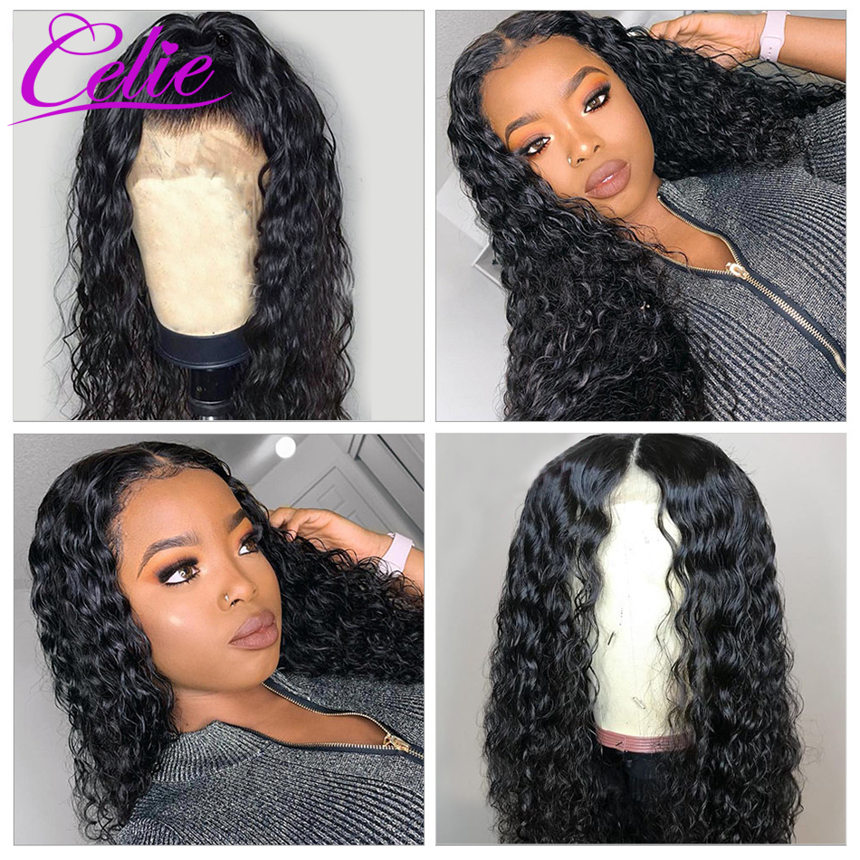 Celie Water Wave Wig Lace Front Human Hair Wigs Pre Plucked Brazilian Lace Front Wig 150