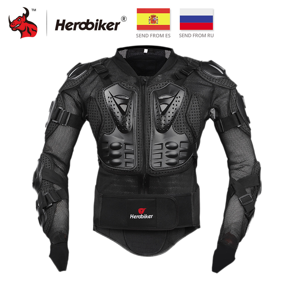 HEROBIKER Motorcycle Jacket Full Body Armor Jacket Motorcycle Armor Spine Chest Protective Gear Moto Protection Motocross Armor недорго, оригинальная цена