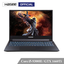 Hasee Z7-CT5NA Laptop untuk Gaming (Intel 9Gen I5-9300H + GTX1660Ti 6G GDDR6/8G RAM/512 G SSD/DOS/15.6 ''Ips) kinerja Tinggi Notebook(China)