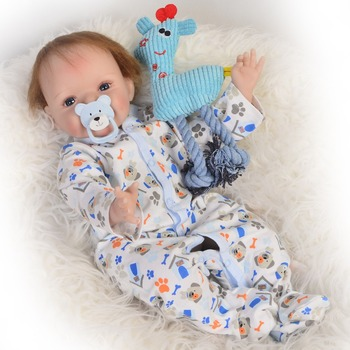 "22""Reborn Doll PP Cotton Body 55cm Silicone Reborn Baby Dolls Lifelike Newborn babies toy Juguetes Babies Toys birthday presents"