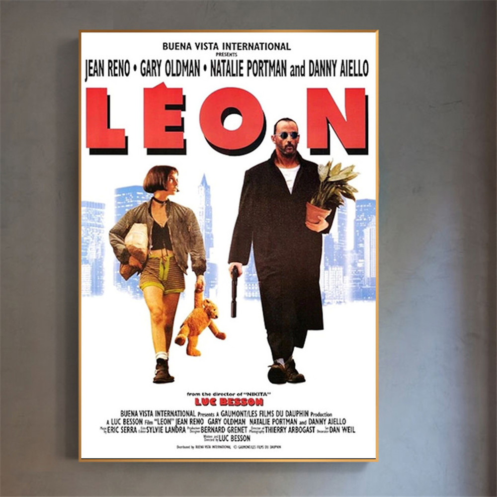 Movie Poster Leon The Professional Pop Art Canvas Prints Home Wall Decor Teen Bedroom Art Paintings Bar Room Decoration image