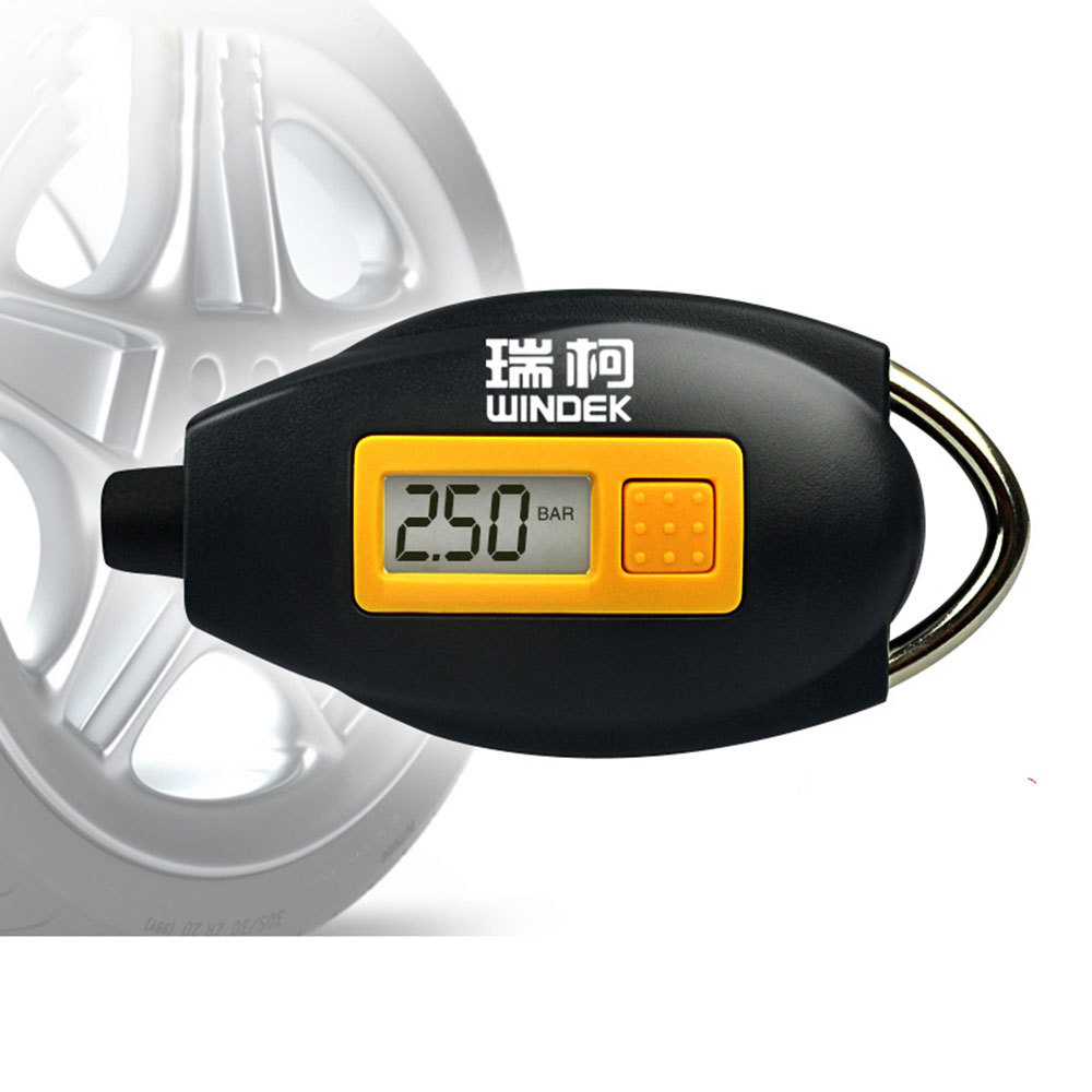 Mini Keychain Digital LCD 12V Tire Car Auto Tyre Air Pressure Gauge For 12V Car Auto
