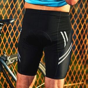 Image 5 - Santic short de cyclisme pour hommes en Coolmax 4D, avec coussin Anti choc, Anti pilule pour faire du sport, taille asiatique, R FEEL, KS007