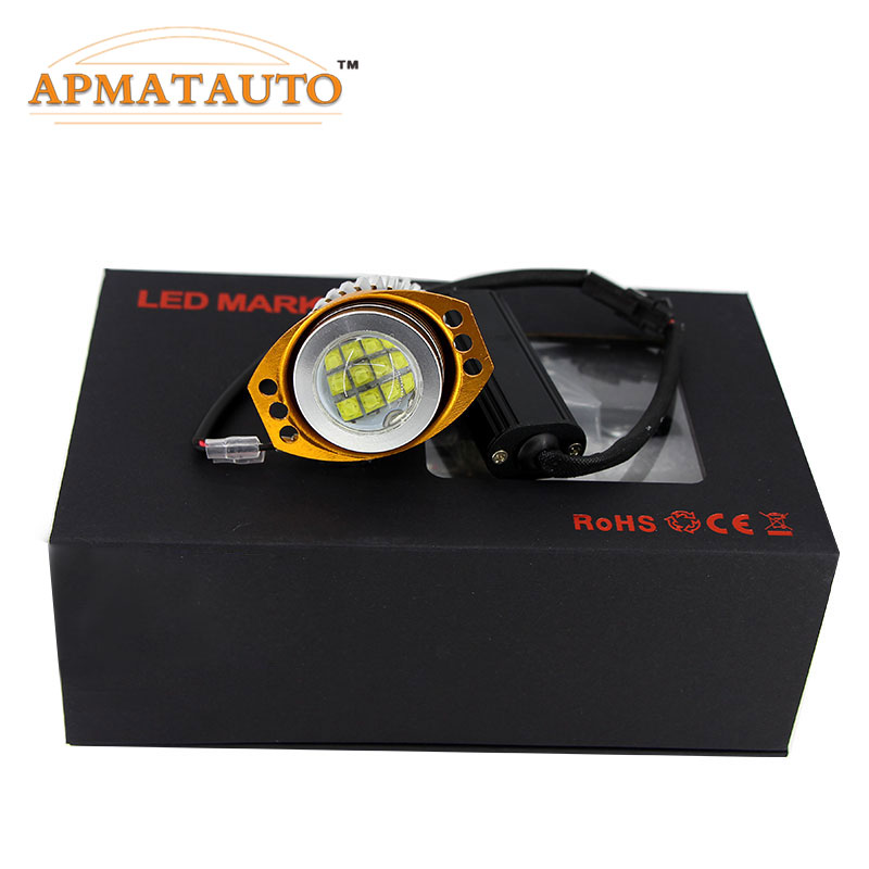 1 Pair 4000LM 120W XBD Chips LED Angel Eye Light Halo Lamp For BMW 09-11 E90 / E91 LCI Halogen Headlight Models image