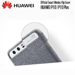 Image 3 - HUAWEI P10 Ốp Lưng Ban Đầu chính thức Smart View Cửa Sổ Vải Da điện HUAWEI P10 Plus Ốp Lưng Kinh Doanh P10 Plus Lật bao da