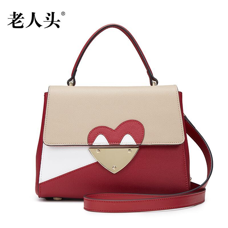 Famous brand top quality dermis women bag  Fashion hit color handbag Leisure wild Shoulder Messenger Bag
