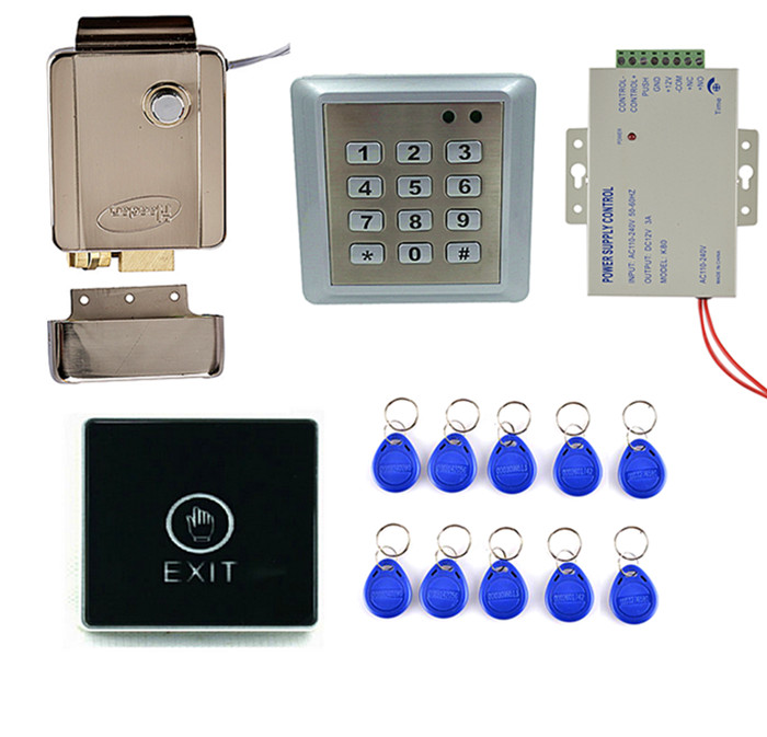 Touch Door Switch Button+Waterproof  Access Control Keypad System +Door Bell +Good for Home Use wireless home security door bell call button access control with 1pcs transmitter launcher 1pcs receiver waterproof f3310b
