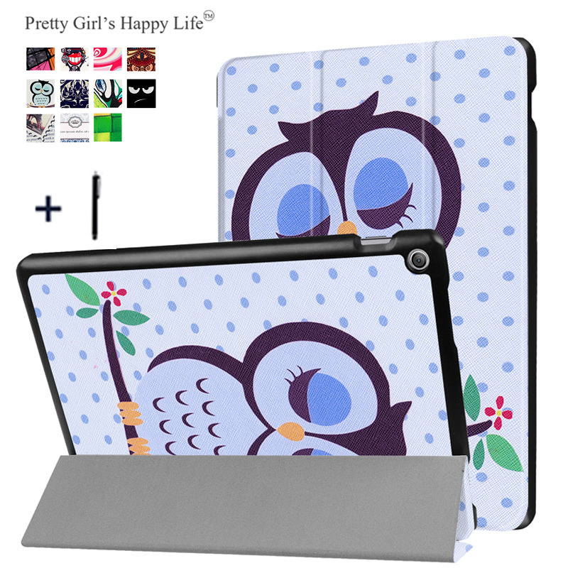 for ASUS Zenpad 10 Z301MFL Tablet Cover Case for ASUS Zenpad 10 Z301ML Coque Print Flip Leather Stand Slim Capa Fundas+Stylus asus zenpad 3s 10 z500m tablet pc