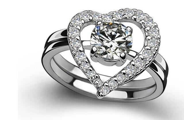 Bridal Sets Heart Shape 1ct Fine Diamond Ring Wedding High Quality Engagement