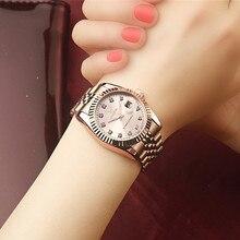 Женские часы Deerfun известный бренд бизнес Алмаз розовое золото Календарь Роскошные водонепроницаемые кварцевые наручные часы relogio feminino