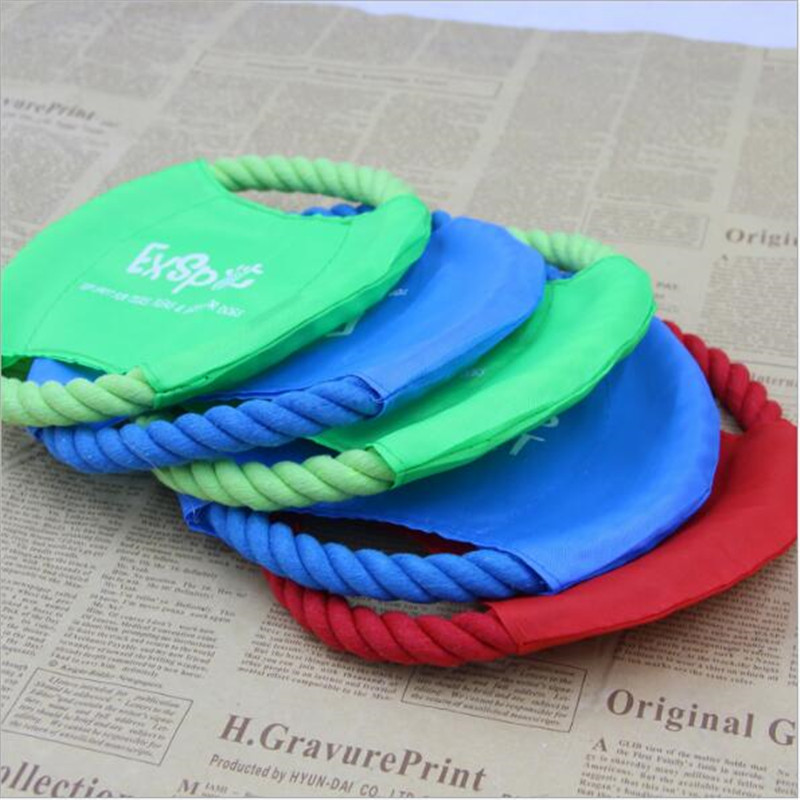 Canvas and Rope Frisbee 1