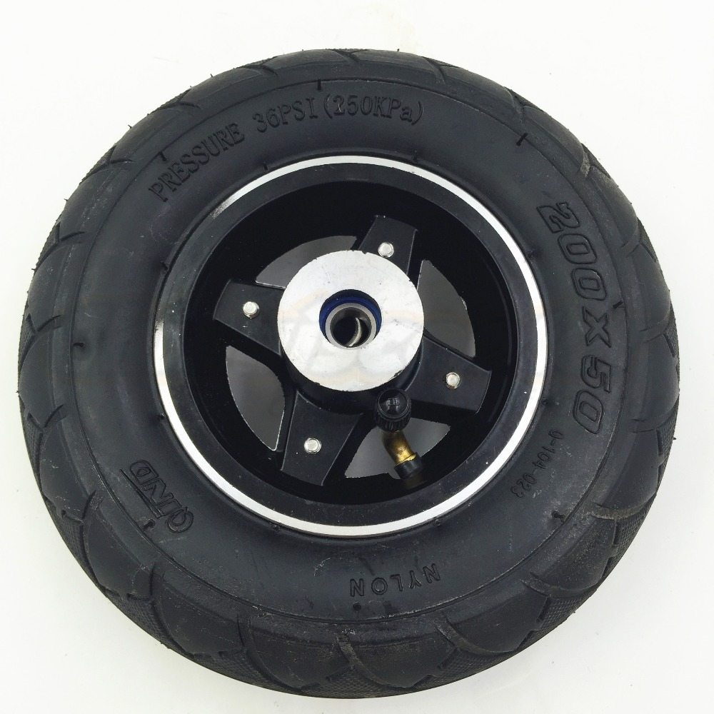 Scooter Wheels 8 inch Scooter Front Wheels 200*50 Kids Scooter Front Wheel with Aluminium Wheel Rim ( Scooter Spare Parts)