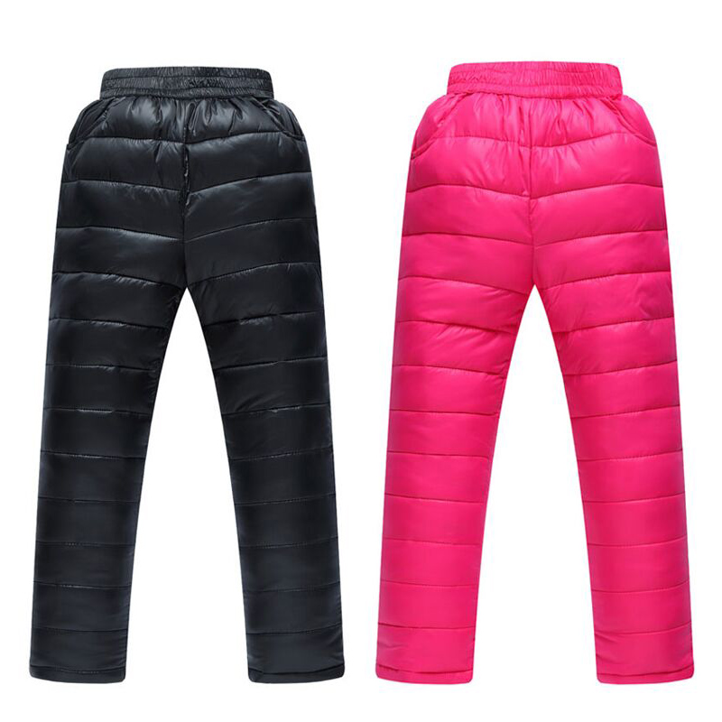 New Winter Boys Girls Pants Kids Thick Sports Trousers 3 10YChildren s Clothing Casual Kids Down