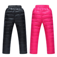 2016 New Winter Boys Girls Pants Kids Thick Sports Trousers 3 10YChildren S Clothing Casual Kids