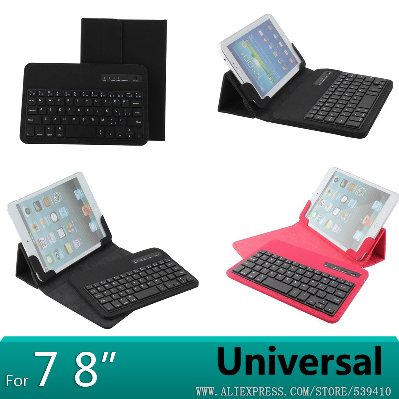 7 8 inch Universal Removable Bluetooth Keyboard PU Case Cover For huawei Mediapad 7 Vogue S7-601 Youth S7-701 S7-701U S7-701W universal 61 key bluetooth keyboard w pu leather case for 7 8 tablet pc black