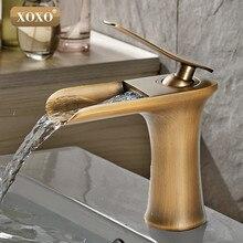 XOXO водопад латуни раковиной, смеситель Chrome Ванная комната раковина бассейна смесителя 83008