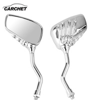 CARCHET Motorcycle Mirrors 8mm 10mm Universal Motorcycle Side Rearview Mirrors Square Mirrors For Yamaha Honda Motorbike