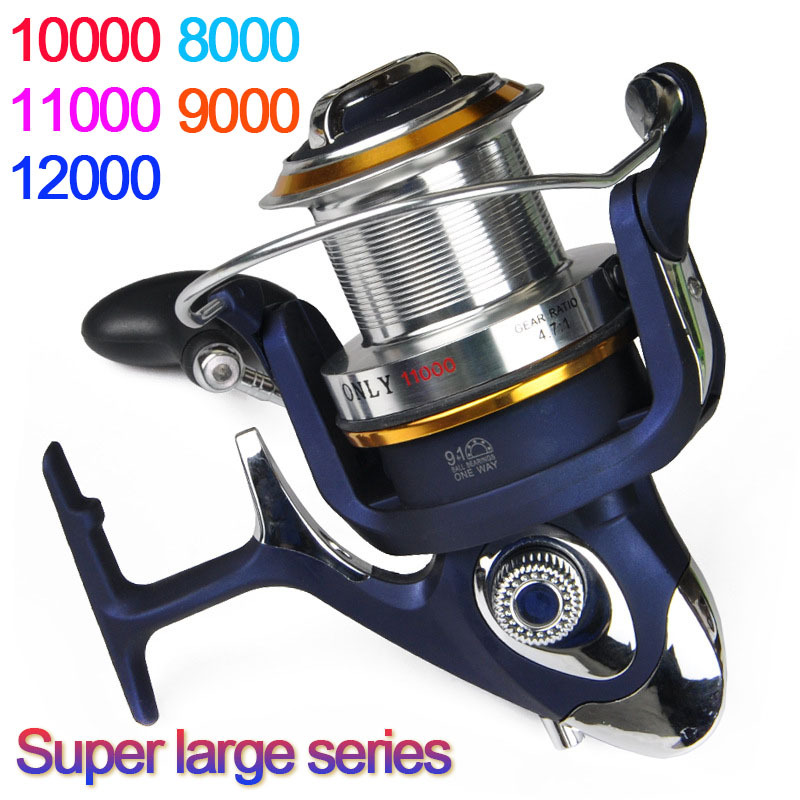 High quality 8000 12000 series 9 1bb spinning fishing reel for Discount fishing reels