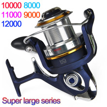High Quality 8000 – 12000 Series 9+1BB Spinning fishing reel Cheap Saltwater Surf casting reel carretilha pesca molinete pesca