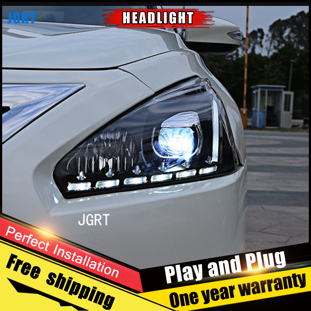 JGRT Car Style LED headlights for Nissan Altima 2013 2015 for head lamp LED DRL Lens