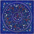 SALUTTO 130 cm * 130 cm bufanda de Las Mujeres bufandas de seda del diseñador de moda de Europa y América impresiones de Algodón de Lino de alta calidad twilly