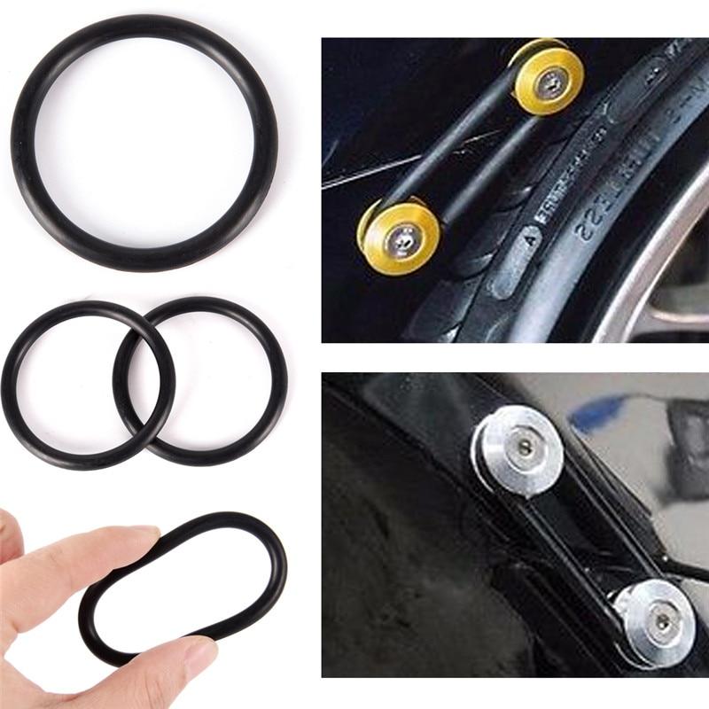 4 unids/lote juntas tóricas de goma de repuesto para parachoques de coche negro sujetadores de liberación rápida 5,5 cm x 0,5 cm