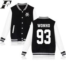 2016 Youpop KPOP Korean bomber jacket Baseball Jacket Monsta X Sweatshirt Kpop Hoodie Clothing I.M JOOHEON MINHYUK SHOWNU