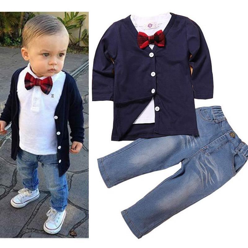 48ef66d940cf6 Formal Suit For Kids Gentleman 3 PCS Boys Party Wear Kids Clothes Sets Toddler  Boys Clothing
