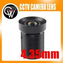 """4.35mm M12 1/2. 3 """"filtr podczerwieni 72D 10 megapikseli kamera akcji obiektyw do Gopro dla Xiaomi Yi SJCAM kamery DJI Phantom drony uav"""