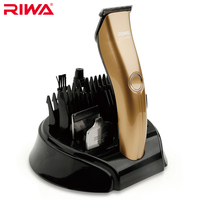 Riwa 3 Head Rechargeable Hair Trimmer 2 Hours Fast Charging Champagne Gold Hair Clipper With 600mAh