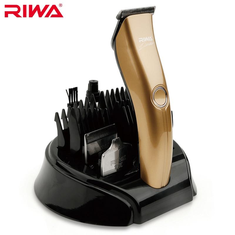RIWA Oro Multifunzione Lame Tagliatore di Capelli Ricaricabile Capelli Trimmer Tre Funzionale Kit Per Gli Uomini X4