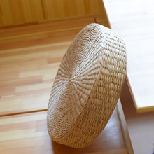 Handmade Weave Round Straw Floor Cushions Futon Meditation Cushion Seat Mat Yoga