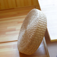 Handmade Weave Round Straw Floor Cushions Futon Meditation Cushion Seat Mat Floor Yoga