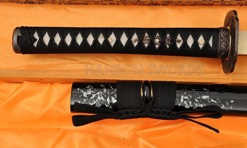 Tamamilə əl işlənmiş Samuray Yapon Qılınc Dragon Katana 1060 - Ev dekoru - Fotoqrafiya 3