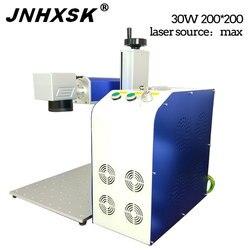JNHXSK 200*200mm maszyna do znakowania metalu chiny 30 W/20 W podział Galvo Tech maszyna do znakowania laserowego włókna cena z obrotowym urządzeniem w Frezarki do drewna od Narzędzia na
