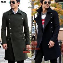 Повседневная длинные шерстяные пальто двойной брестед шинель мужские кашемировые пальто casaco masculino inverno эркек мон sobretudo англия весна