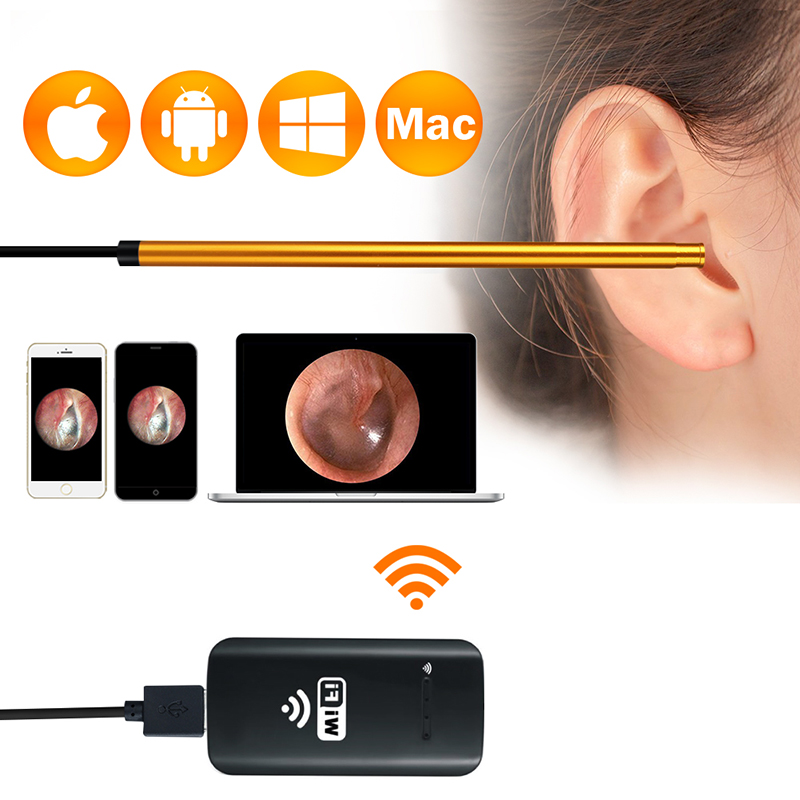 $27.91 | WiFi Digital Ear Scope Inspection Ear Camera Endoscope Anti-Scald HD Visual Inspection Ear Borescope for iPhone, iPad, Android