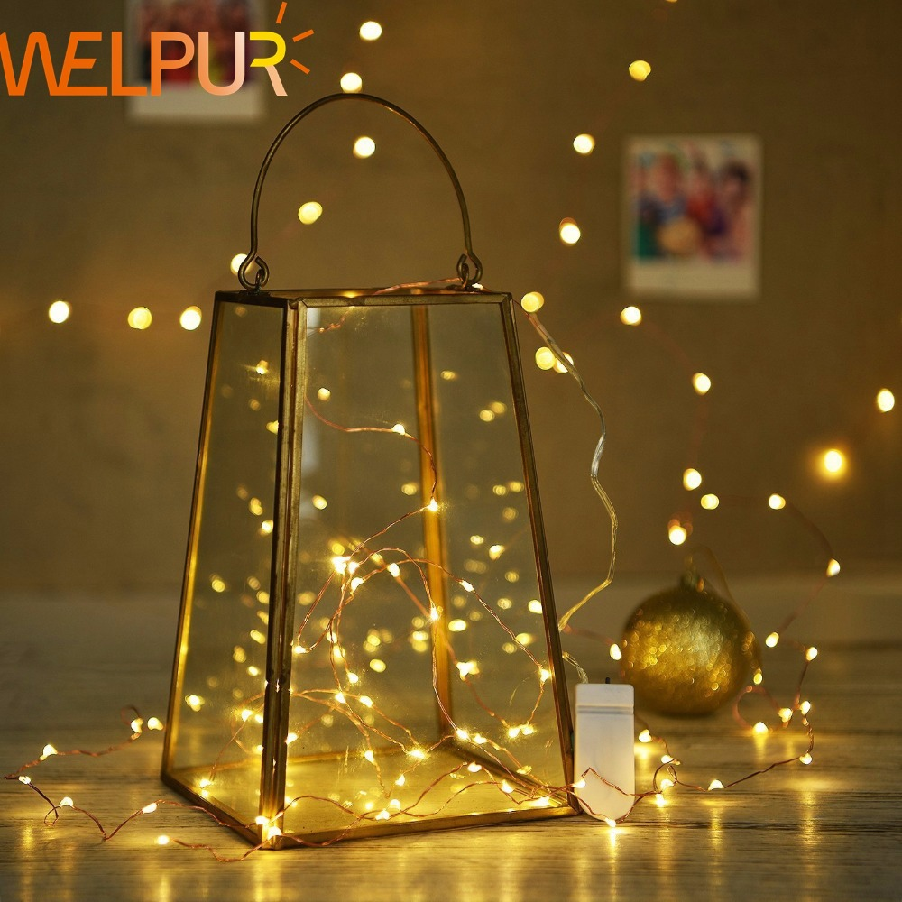 LED Lighting String DC3V CR2032 Battery Cooper Wire 1M 2M 4M For Christmas Fairy Holiday Wedding Outdoor PartyDecoration