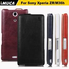 Imuca подлинная кожа флип чехол для Sony Xperia ZR M36H / C5502 / C5503 мобильный телефон чехол