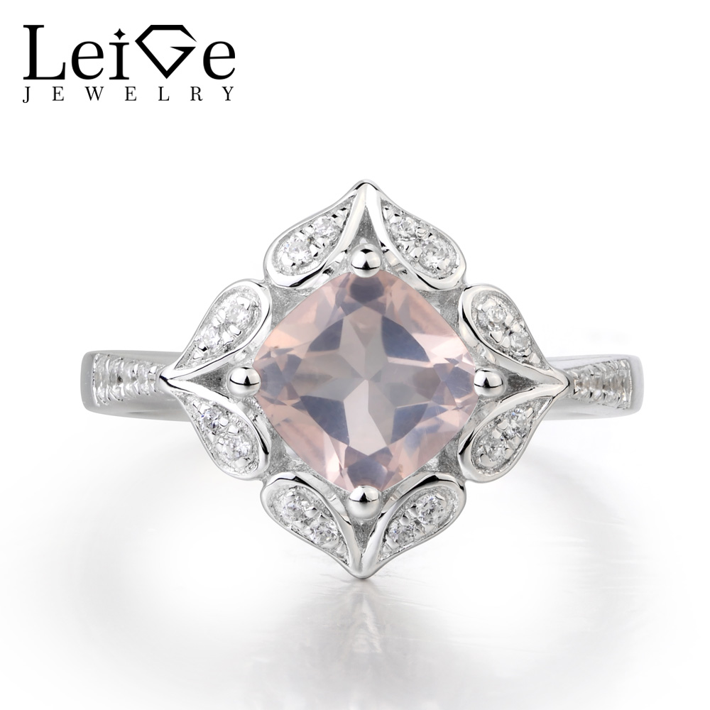 Leige Jewelry Natural Peridot Ring Wedding Ring Cushion Cut Green Gems August Birthstone Ring 925 Sterling Silver Female Rings цена