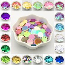 Paillettes 10mm 15mm 20mm 25mm 30mm Sequin Flat Round Side Hole Loose PVC Sequins DIY Craft for Wedding Clothing Accessories 30g(China)