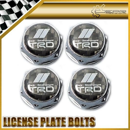 Car-styling Carbon Fiber Number License Plate Bolt Bolts Universal Fitment For Toyota TRD